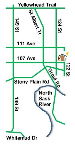 Map to Store 12204 107 Ave NW